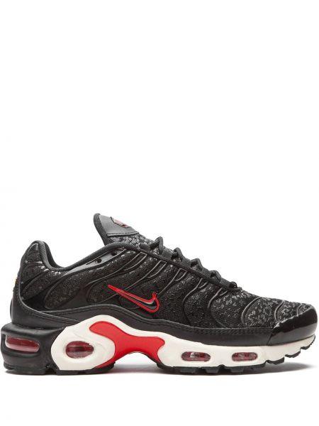 Czarny sneakersy na sznurowadłach z neoprenu z łatami Nike