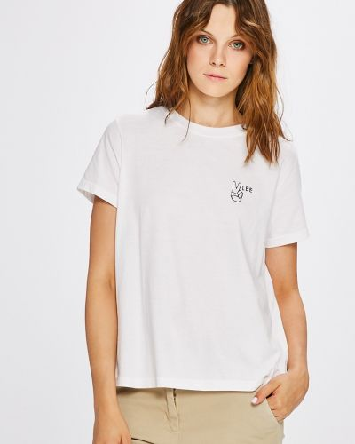 Белая футболка прямая Lee