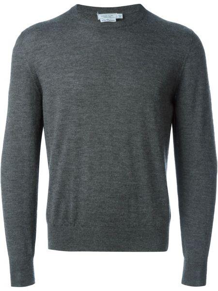 Серый кашемировый свитер с круглым вырезом Fashion Clinic Timeless
