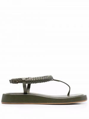 Кожаные сандалии - зеленые Gia Couture