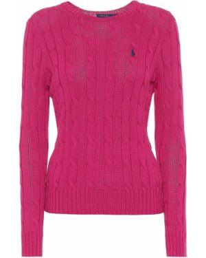 Свитер с высоким горлом розовый Polo Ralph Lauren