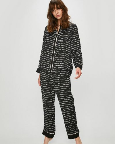 Черная пижама с карманами Dkny