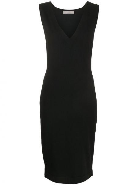 Прямое черное платье миди без рукавов D.exterior