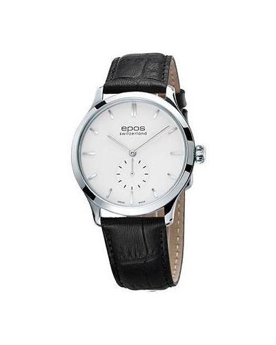Часы с кожаным ремешком швейцарские Epos