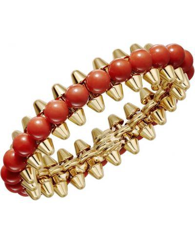 Массивный красный золотой браслет с шипами Cartier