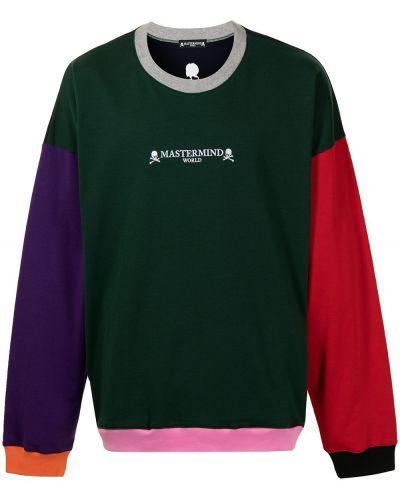 Zielona bluza długa bawełniana z długimi rękawami Mastermind World