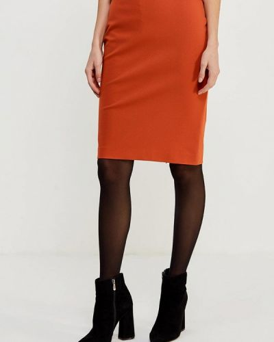 Оранжевая юбка узкого кроя Ruxara