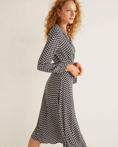 Платье миди с запахом с V-образным вырезом Mango