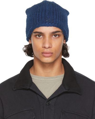 Niebieska czapka wełniana Greg Lauren