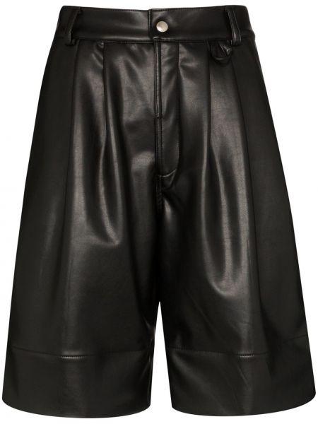 Хлопковые черные шорты с карманами Markoo
