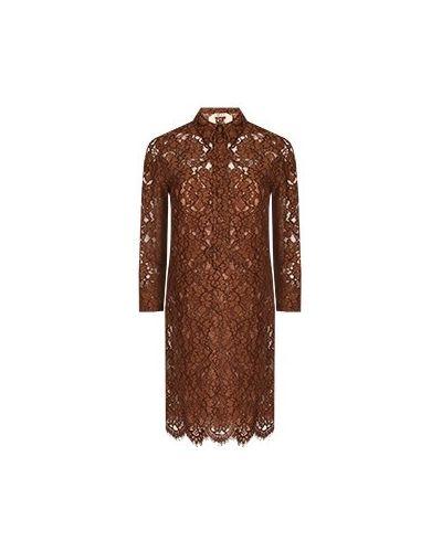 Платье для офиса - коричневое No.21