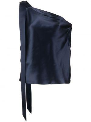 Блузка с открытыми плечами - синяя Michelle Mason