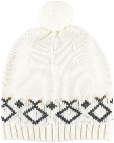 Biała czapka Bonpoint