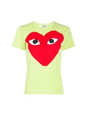 T-shirt - zielona Comme Des Garcons Play