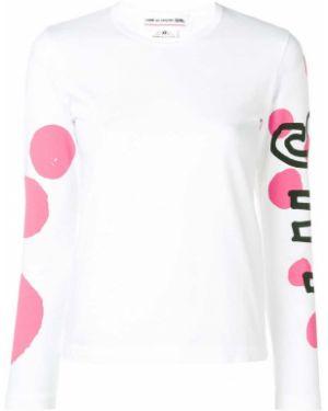 Bawełna biały bawełna koszulka z długim rękawem Comme Des Garcons Girl