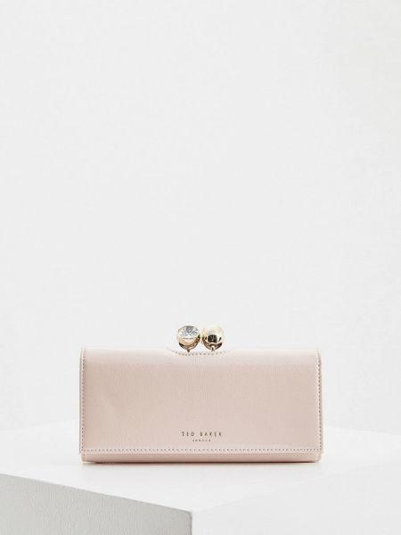 Кошелек лаковый розовый Ted Baker London