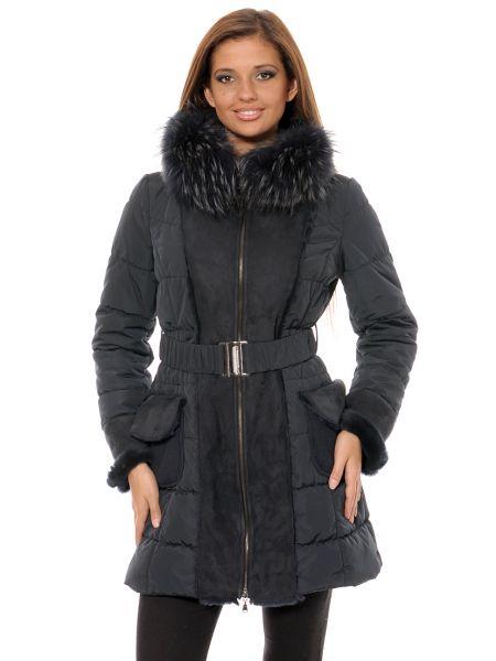 Шерстяное пальто - синее Mor`a