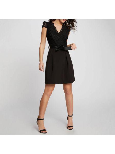 Платье мини с V-образным вырезом расклешенное Morgan