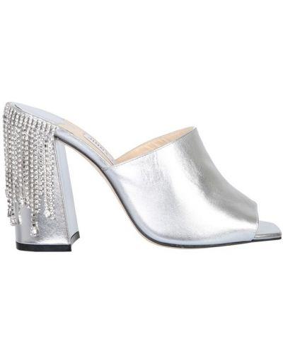 Sandały srebrne - szare Jimmy Choo