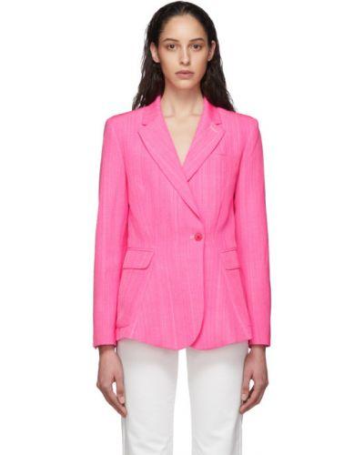 Розовый пиджак с карманами с воротником Jacquemus