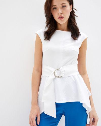 Блузка с коротким рукавом белая весенний Yuna Style