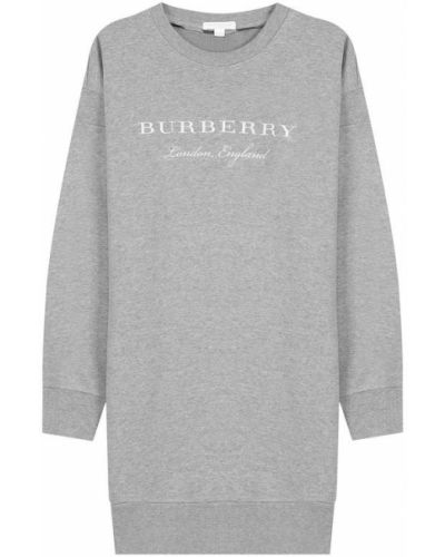 Платье серое с вырезом Burberry