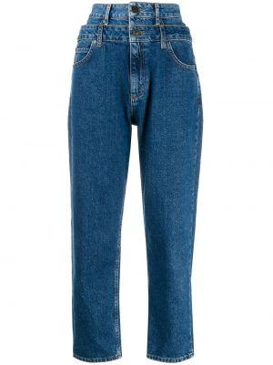 Хлопковые желтые прямые джинсы с карманами на пуговицах Sandro Paris