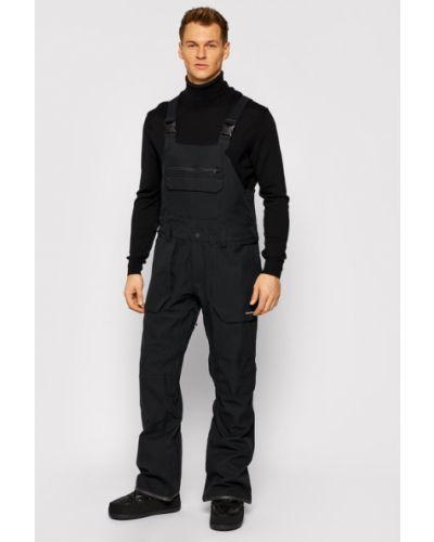 Czarny spodni kombinezon Spodnie Snowboardowe Volcom