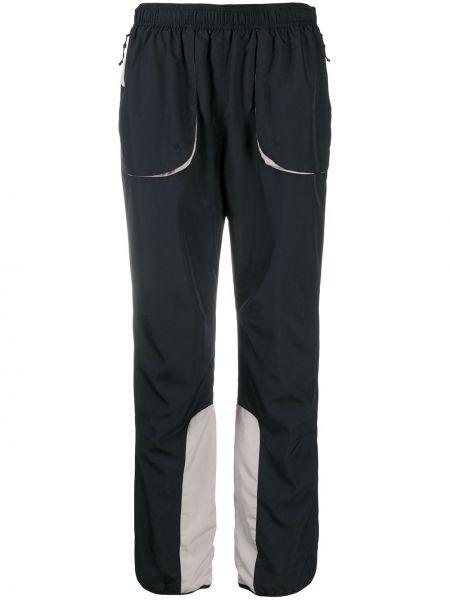 Спортивные прямые черные спортивные брюки с поясом Soulland