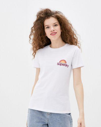 С рукавами белая футболка Superdry