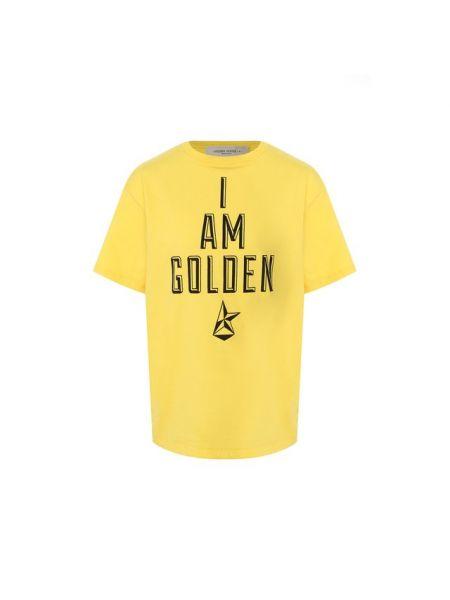 Футболка футбольный желтый Golden Goose Deluxe Brand