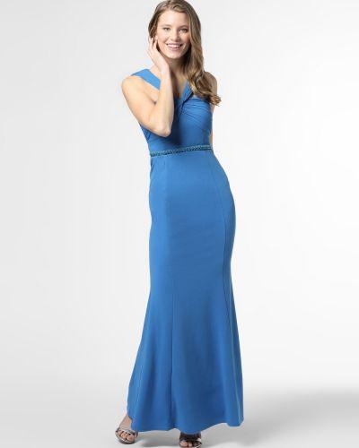Niebieska sukienka wieczorowa z gorsetem Lipsy