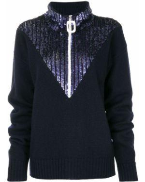 Синий свитер с пайетками Aviù