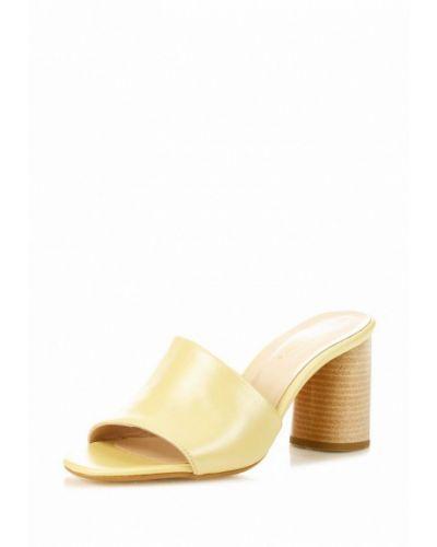 Желтое сабо кожаные Blizzarini