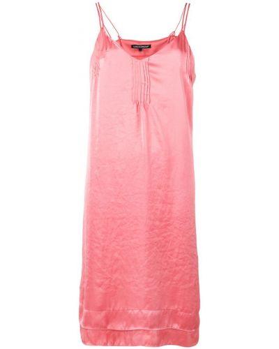 Платье с открытой спиной - розовое Luisa Cerano