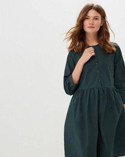 Платье с длинными рукавами льняное Befree