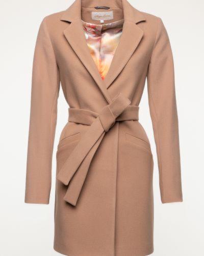 Шерстяное пальто - бежевое Serge Leoni