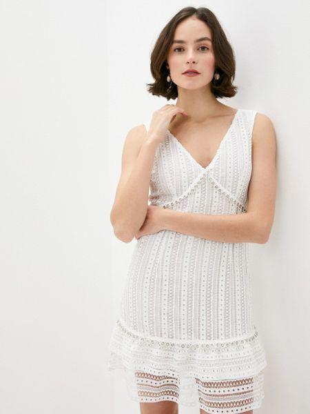 Белое джинсовое платье Guess Jeans