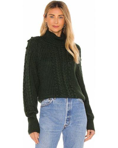 Акриловый зеленый длинный свитер John & Jenn By Line