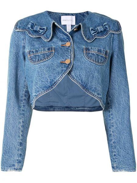 Хлопковая синяя джинсовая куртка с воротником на пуговицах Alice Mccall