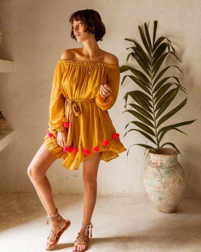 Желтое платье Sundress