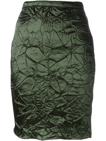 Юбка шелковая зеленый Nina Ricci