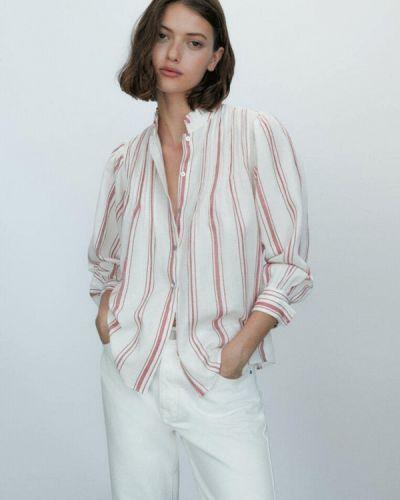 Белая рубашка осенняя Massimo Dutti