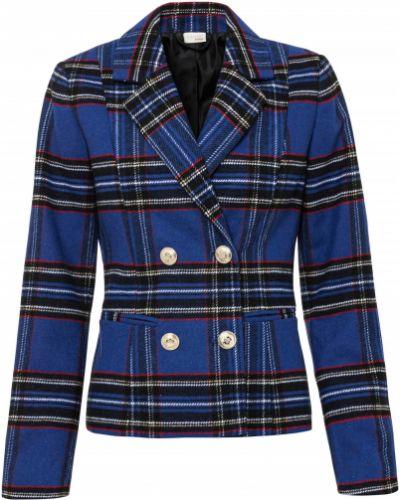Пиджак в клетку - голубой Bonprix