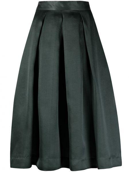 С завышенной талией зеленая плиссированная юбка миди SociÉtÉ Anonyme