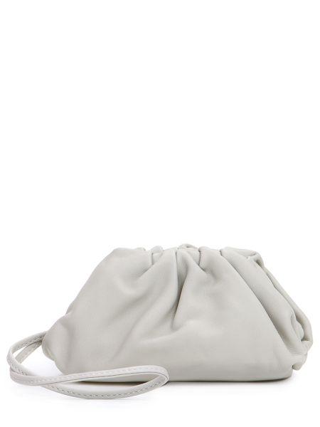 Кожаная мягкая бежевая кожаная сумка Bottega Veneta