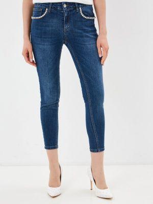 Синие джинсы-скинни узкого кроя Rinascimento