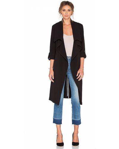Черное пальто свободного кроя с карманами Soia & Kyo