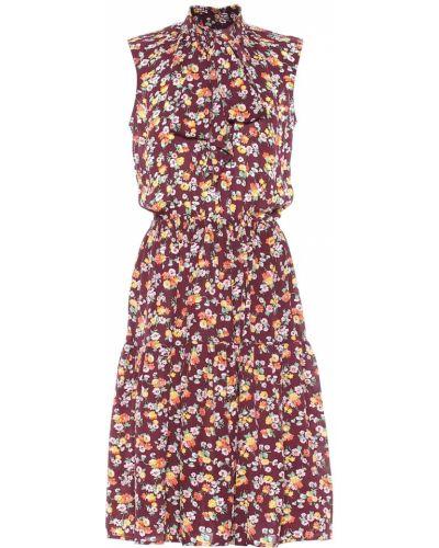 Платье с цветочным принтом шелковое Polo Ralph Lauren