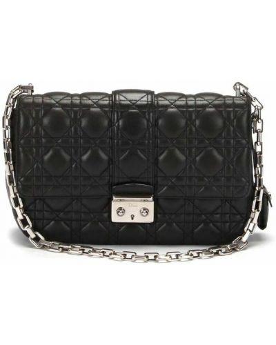 Czarna torebka skórzana Dior Vintage